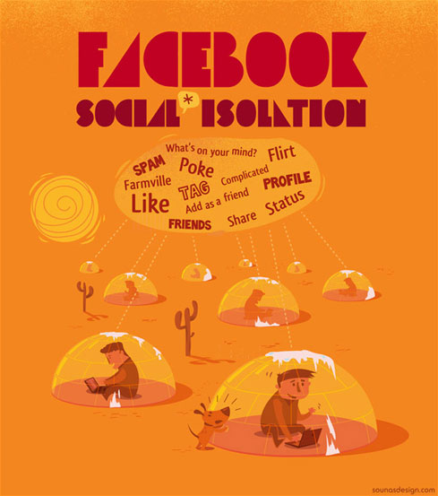 'Facebook Isolation' by Ilias Sounas, 2011