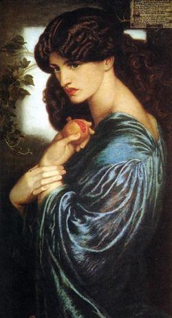 Dante Gabriel Rossetti - Proserpin, 1872