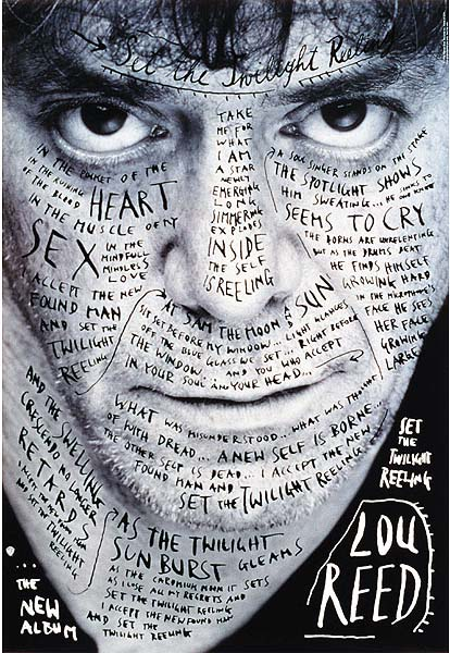 "Stefan Sagmeister, poster for Lou Reed's ""Set the Twilight Reeling"" (1996)"