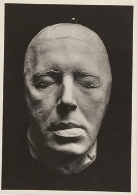 Masque en plâtre d'André Breton