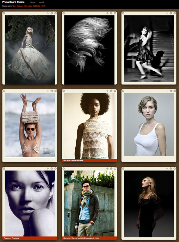 Photo Board Theme - Tumblr