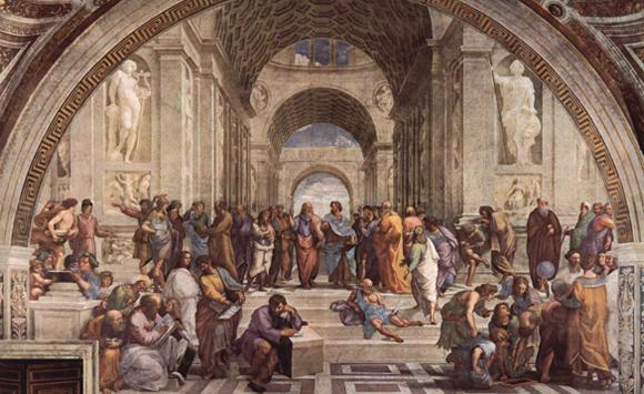 """""""Scuola di Atene"""" Raffaello Sanzio, c.1509-1511"""
