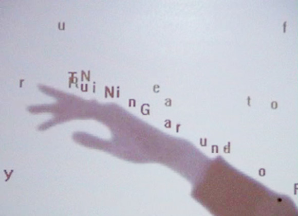 Text Rain by Camille Utterback, 1999