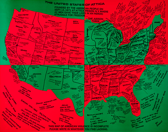 Faith Ringgold, The United States of Attica, 1971